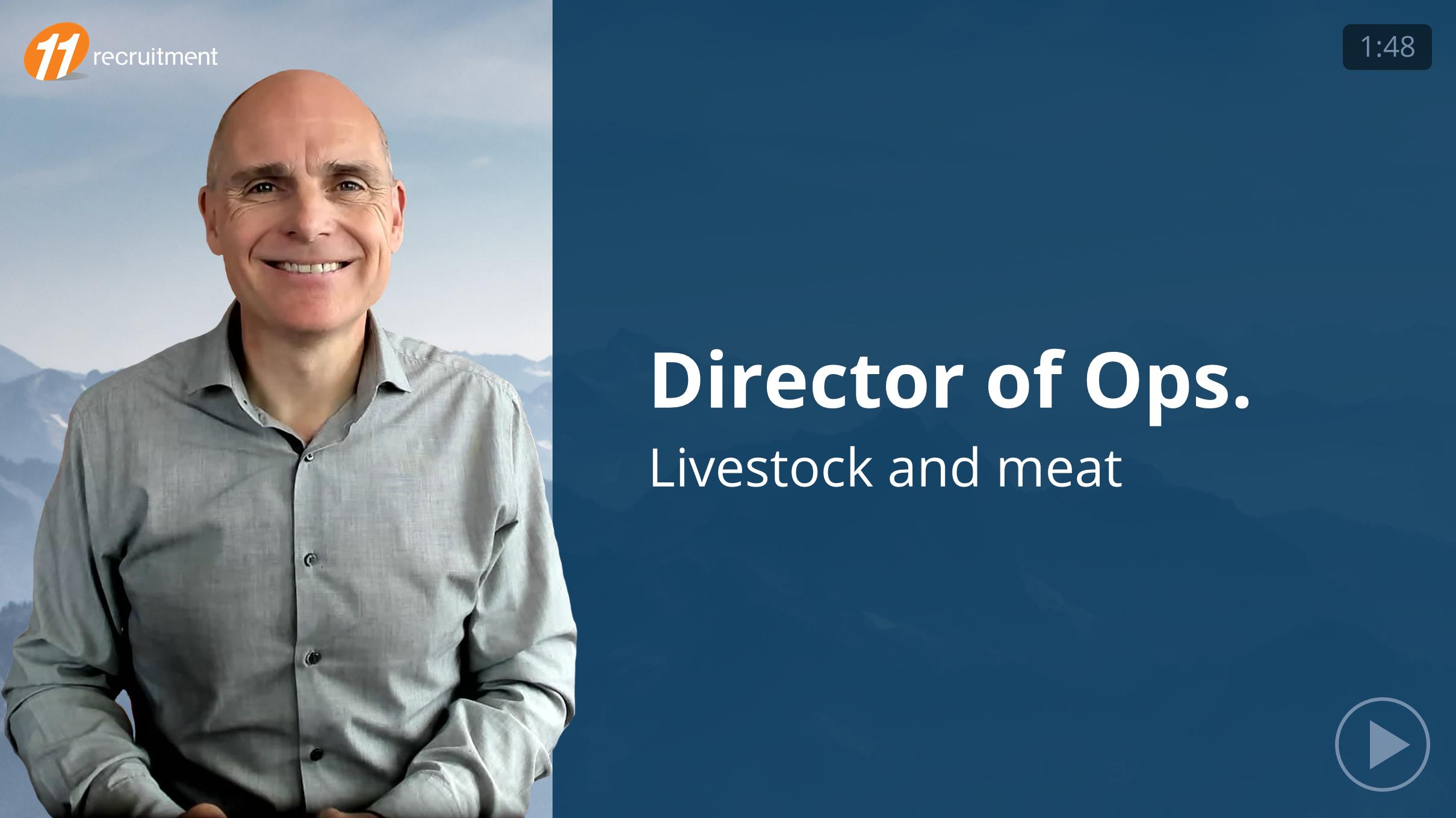 Director of Operations - Livestock