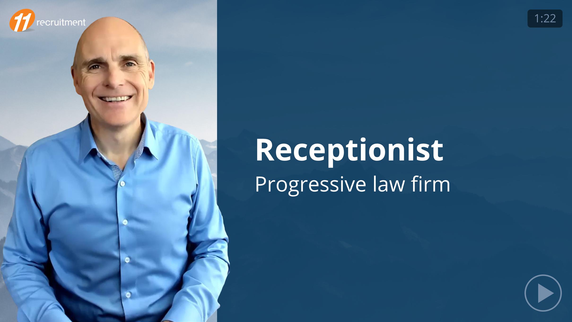 Receptionist - Legal